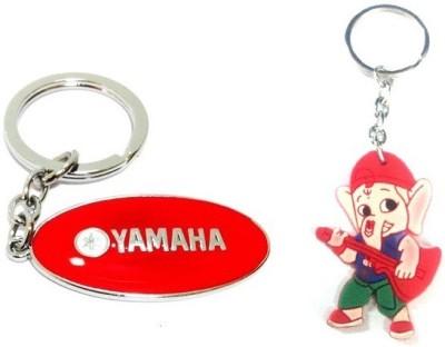 Ezone Full Metal Bike Yamaha & Rubber Ganesh Key Chain Key Chain