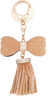 Super Drool Beige Shimmer And Tassels Key Chain