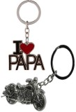 Alexus Papa And Bike Key Chain (Silver)
