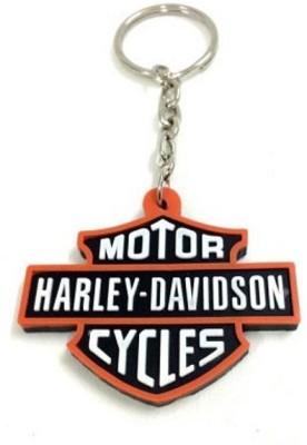 Aura Harley Davidson Rubber Key Chain