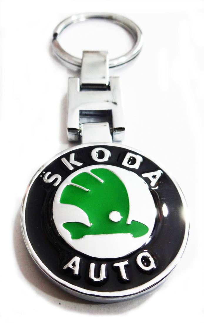 Aditya Traders CLASSY ORIGINAL ,SKODA CAR KEYCHAIN Locking Carabiner