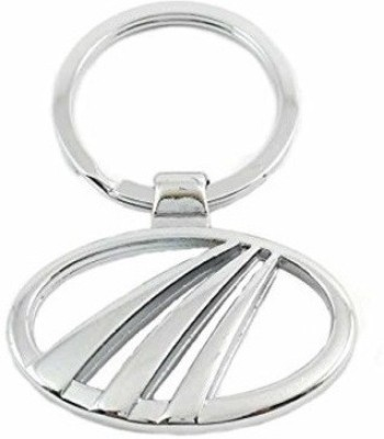 Ezone Mahindra Car Metal Curved Gate Key Chain