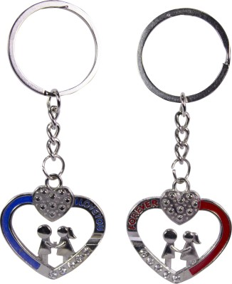 Oyedeal Couples with Studded Heart KYCN1817 Key Chain