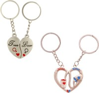 CTW True Love you Heart & Miss You Heart Metal Combo Pack of 2 Key Chain(Silver) best price on Flipkart @ Rs. 299