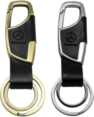 Quoface Mercedes Logo Combo Locking Carabiner(Black, Silver, Gold)