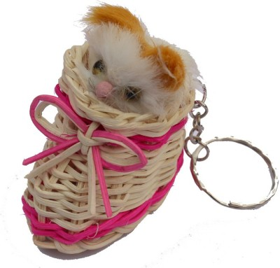 CTW Cute Cat hidding In Shoes Key Chain