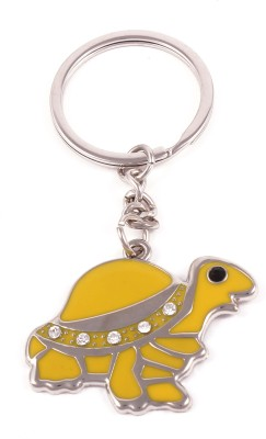VeeVi Yellow Diamond Studded Tortoise Key Chain