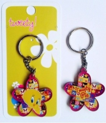 Warner Bros Tweety Flower Acrylic Key Chain