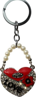 Anishop Valentine Gift Bling With Pearl Heart shape Key Chain