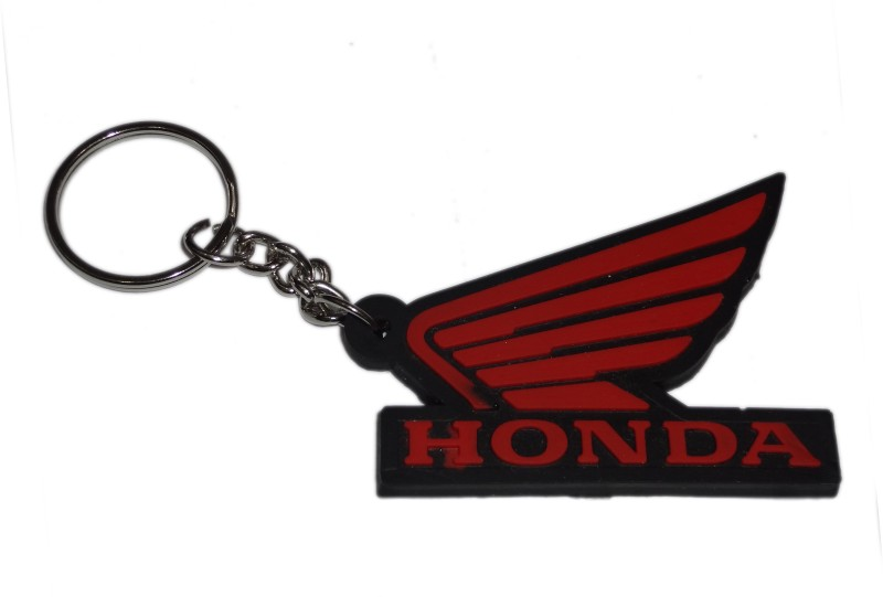 Aditya Traders Attractive Honda Logo Rubber Ring Key Chain(Red)