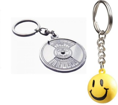 Chainz Calendar Compass Metal Ans Smiley Ball Key Chain
