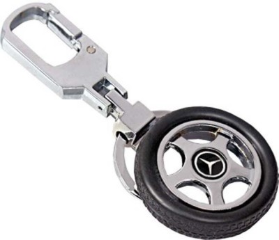 Amor Mercedes Tyre Rotary Wheel Key Chain Locking Key Chain
