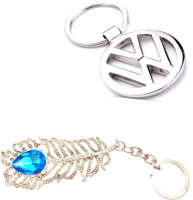 99DailyDeals R90 Combo Of 2 OMG and Volkswagen keychain Key Chain