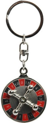 Lata 360 Degree Rotating Casino Roulette Wheel Game Key Chain Key Chain