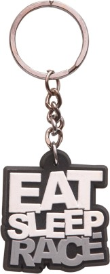 Oyedeal Eat Sleep Race KYCN415 Rubber Key Chain