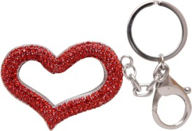 Oyedeal Valentines Special Studded Heart Key Chain