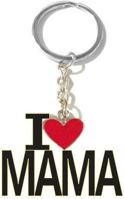 Tech Fashion I Love Mama Red Colour Heart Locking Key Chain