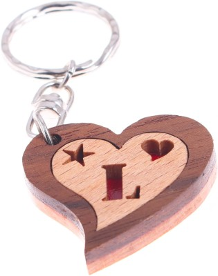 JM Alphabet L Heart Key Chain
