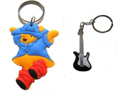 Optimum Deal Cute Cartoon Character Pooh Figure Double Sided Rubber Key Chain