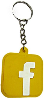 DCS Facebook Logo Key Chain(Yellow) Locking Key Chain