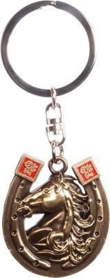 Zeroza Horse Head In A Horseshoe FY15 Key Chain