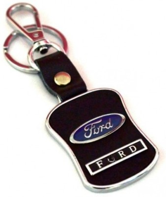 Prime Traders Ford Leather Imported Locking Key Chain