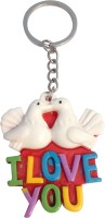 CTW Love You Pigeon kissing Coouple Valentine Key Chain