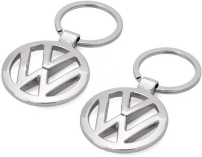 Indiashopers Volkswagen Metallic Key Ring (Pack of 2) Key Chain