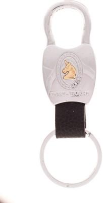 VeeVi Post Horse Silver Lock Button Key Chain Locking Carabiner