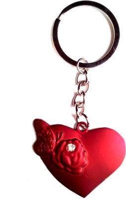KeepSake Red Flower Heart Key Chain