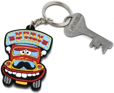 Happily Unmarried Horn Please Locking Key Chain