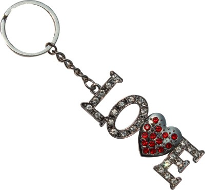 Anishop Full Stone Bling Love Key Chain
