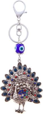 VeeVi Peacock Evil Eye Key Chain Locking Key Chain