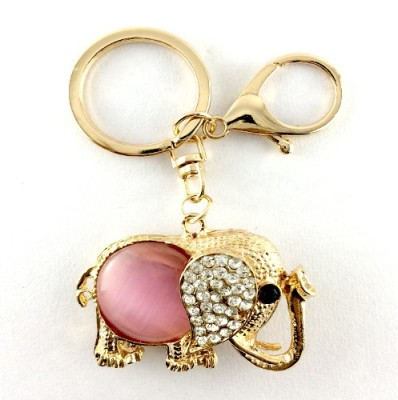 S2S Elephant Gold Pink Fashion Key Chain Locking Locking Key Chain
