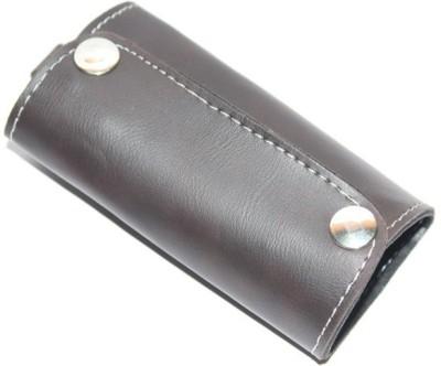 Aura Faux Leather Big Pouch Locking Key Chain