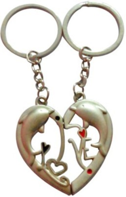 CTW Love Dolphin Heart Couple Pack Key Chain
