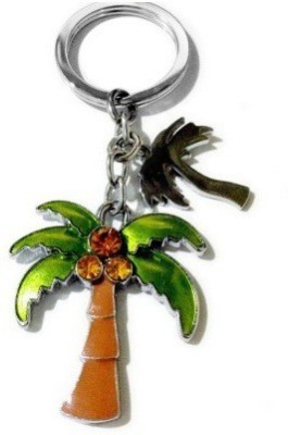 PARRK Coconut Tree Three Diamonds Locking Key Chain