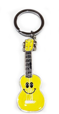 FASHION FEVER CLASSY METAL GUITAR WITH SMILEY Key Chain