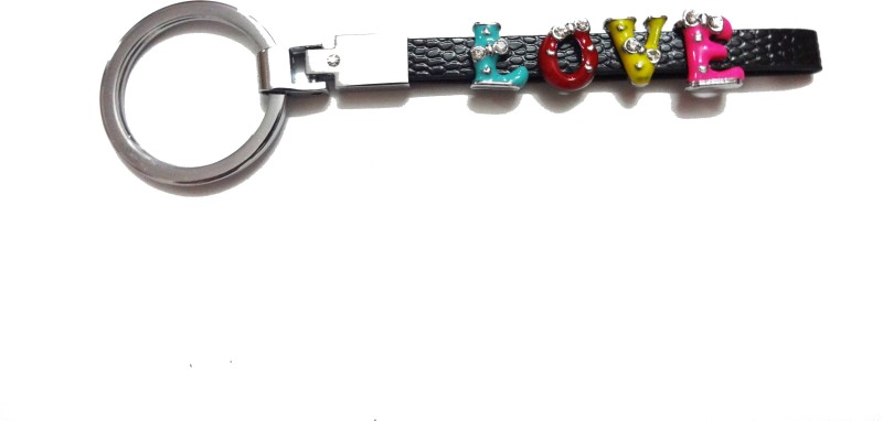 Aditya Traders Metal Leather Love Key Chain(Multicolor)