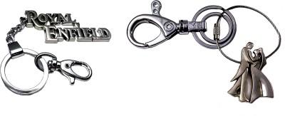 FCS Big Royal Enfield + Couple Locking Key Chain