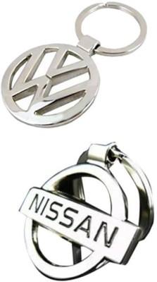 Homeproducts4u Nissan & Volkswagon Key chain (Pack of 2)-20 Key Chain