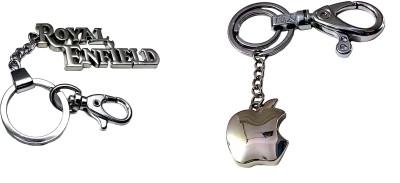 FCS Big Royal Enfield + Apple Locking Key Chain