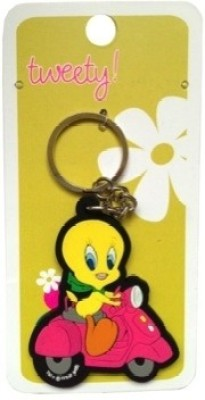 Warner Bros Tweety Scooter Rubber Key Chain