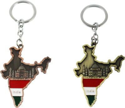 Target retail TAJMAHAL IN INDIA COPPER AND GOLDEN COLOR KEYRING Key Chain