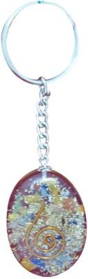 Aaradhi Divya Mantra Orgone Energy Oval 7 Chakra Key Chain