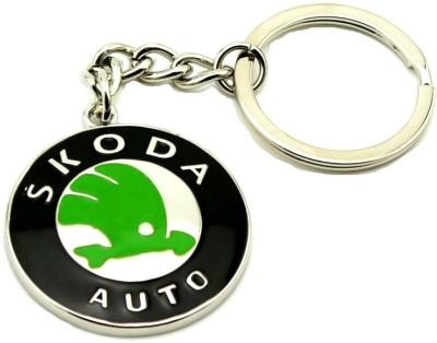 Ezone Full Metal Car Skoda Silver Key Chain Key Chain