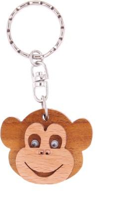 JM Monkey Face with eyes Key Chain