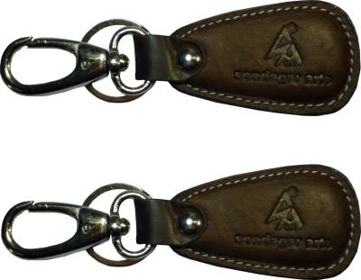 Sondagar Arts Imported Genuine Leather Men's Locking Key Chain