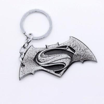 SURAJ ENTERPRISES Batman Superman Silver Grey Matt Finish Metal Key Chain