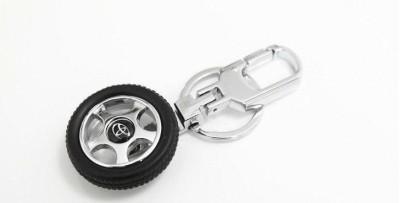 Kairos Toyota Tyre Rotary Wheel Key Chain(Silver)